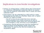 implications in cross border investigations