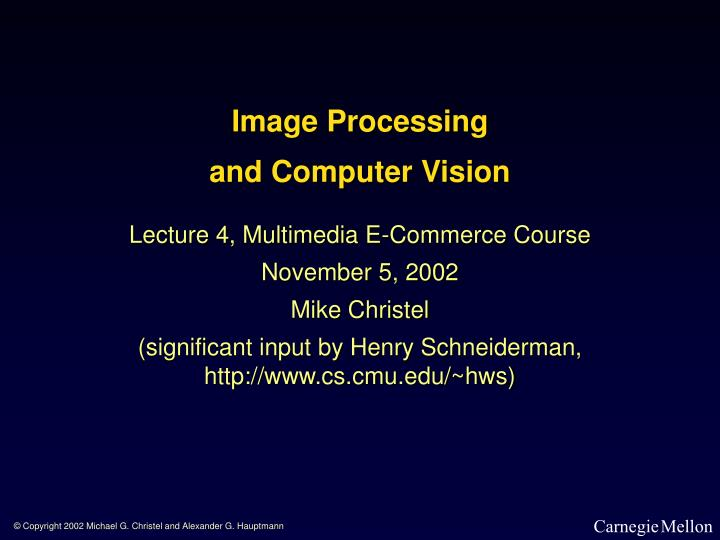 image processing and computer vision n.
