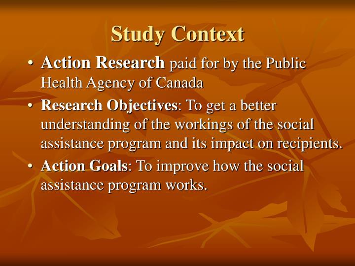Study context