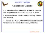conditions checks