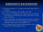 airborne s background