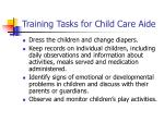 training tasks for child care aide3