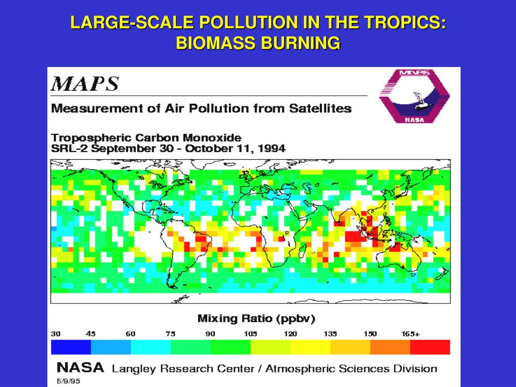LARGE-SCALE POLLUTION IN THE TROPICS: