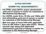 e file return submittal requirements
