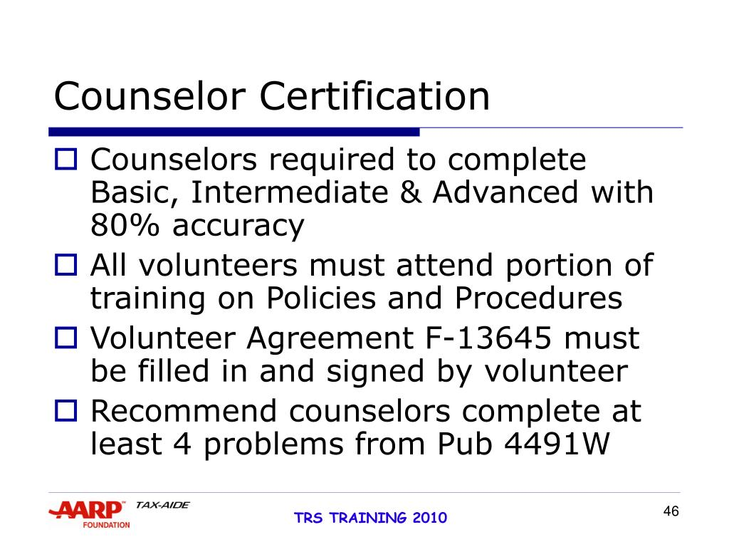 Counselor Certification
