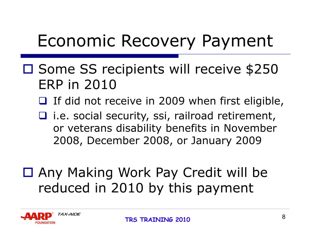 Economic Recovery Payment