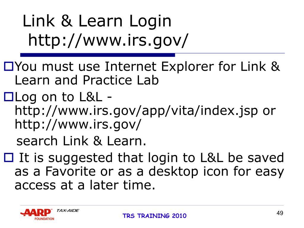 Link & Learn Login