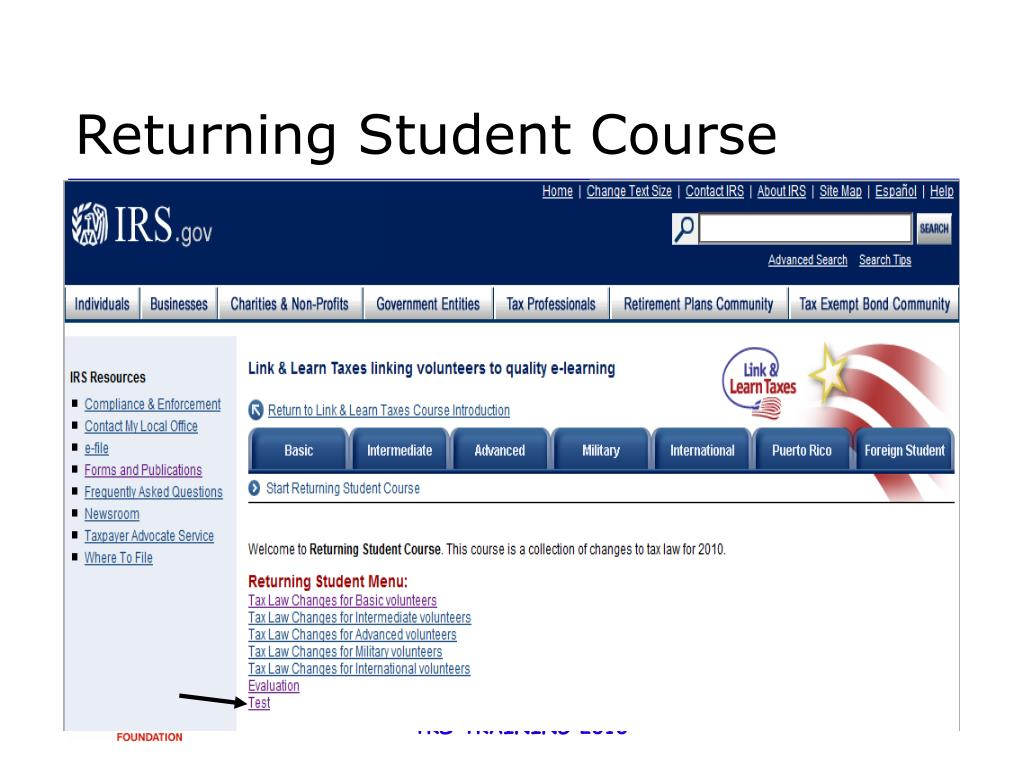Returning Student Course