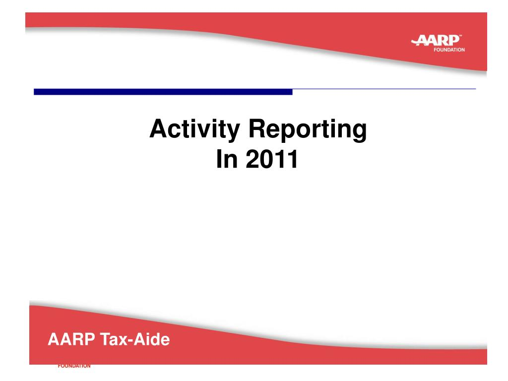 Activity Reporting