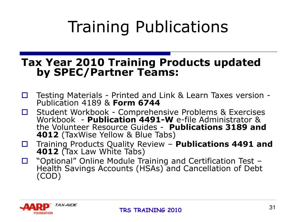 Training Publications