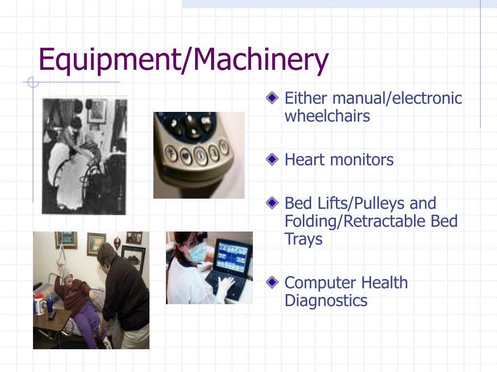 Equipment/Machinery