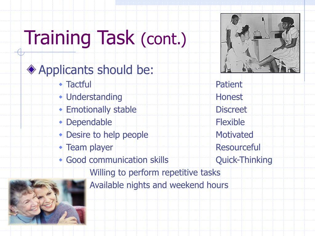 Training Task