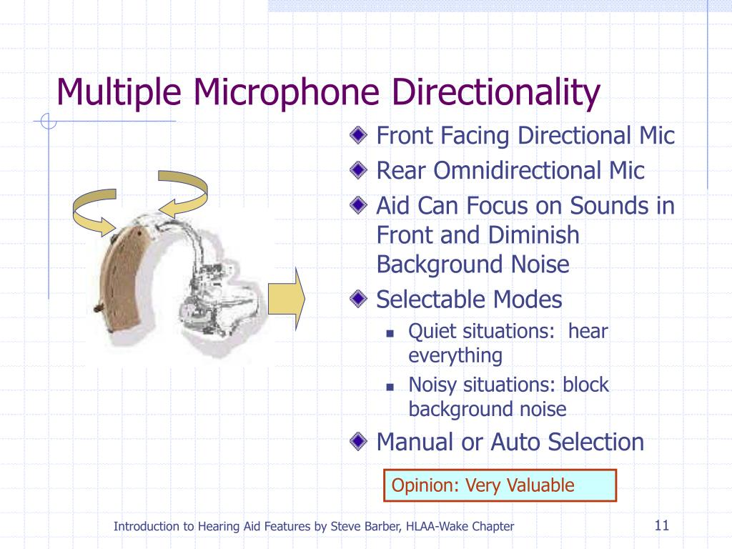 Multiple Microphone Directionality