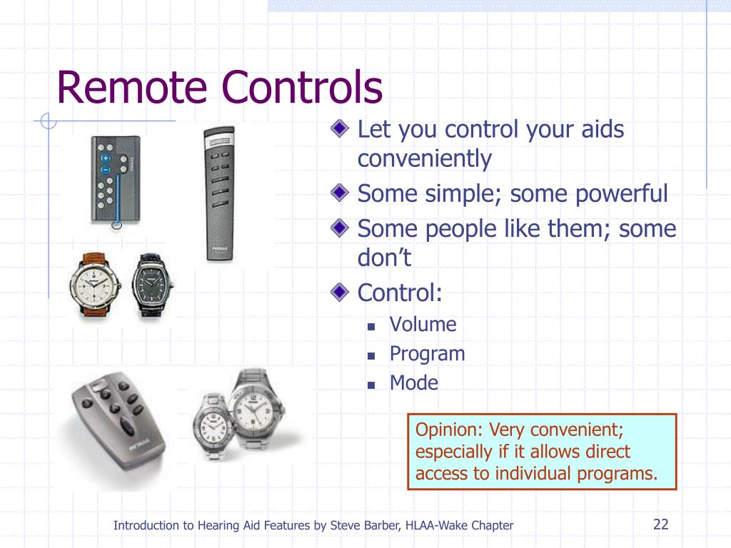 Let you control your aids conveniently