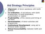 aid strategy principles