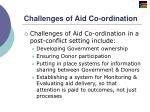 challenges of aid co ordination
