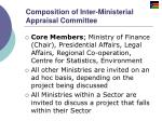 composition of inter ministerial appraisal committee