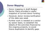 donor mapping