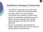 goss donor dialogue partnership