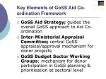 key elements of goss aid co ordination framework