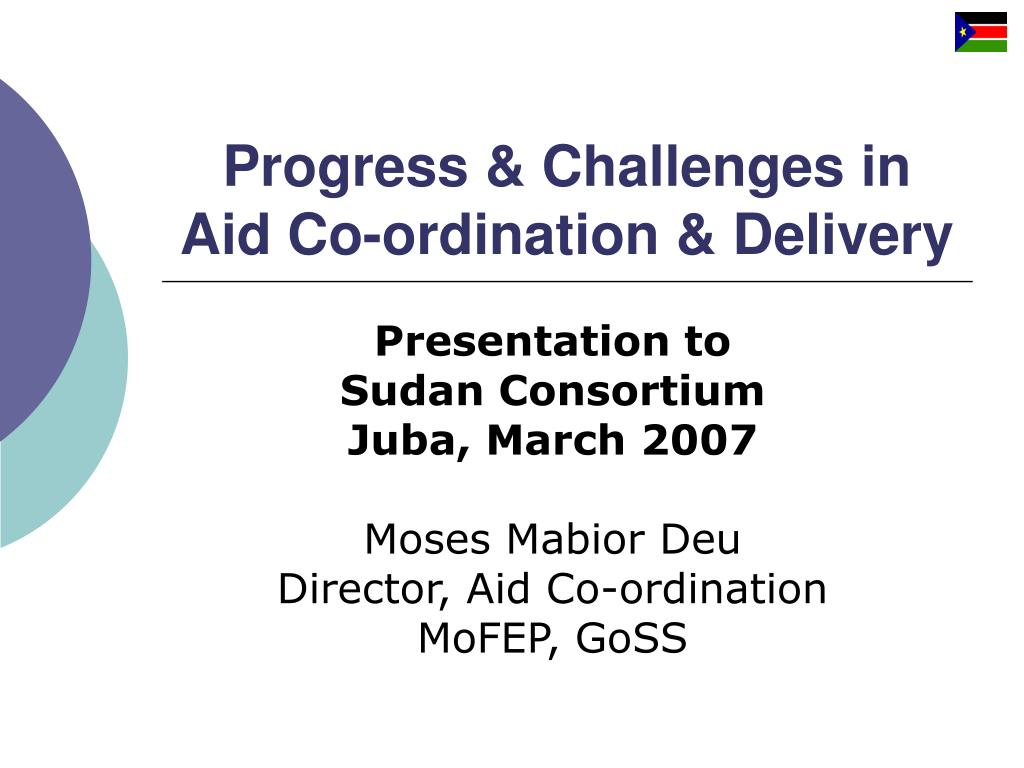 progress challenges in aid co ordination delivery l.