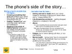 the phone s side of the story