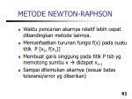 metode newton raphson61