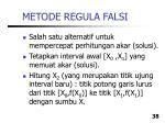 metode regula falsi