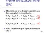 sistem persamaan linier spl