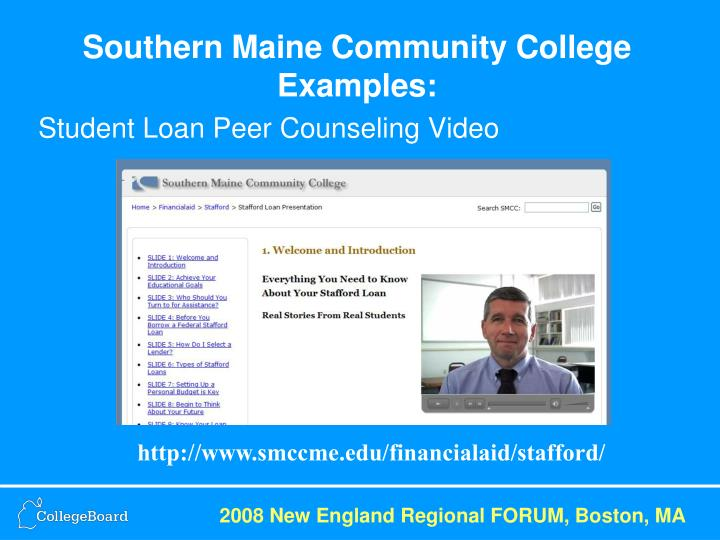Southern Maine Community College Examples: