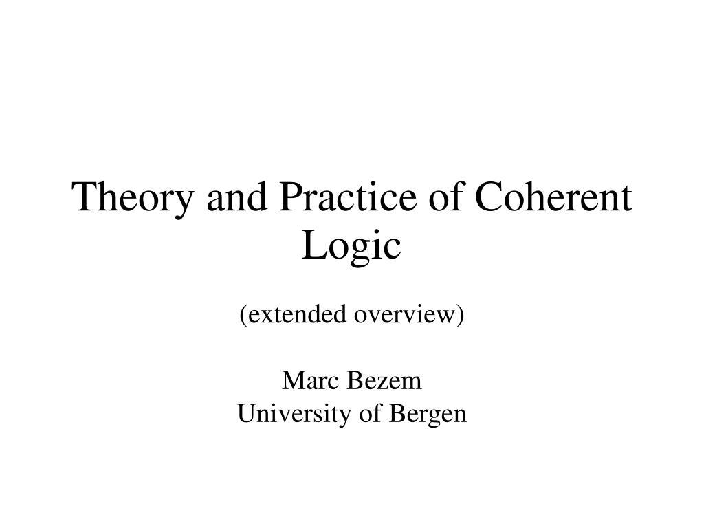 extended overview marc bezem university of bergen l.