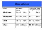 blood volumes