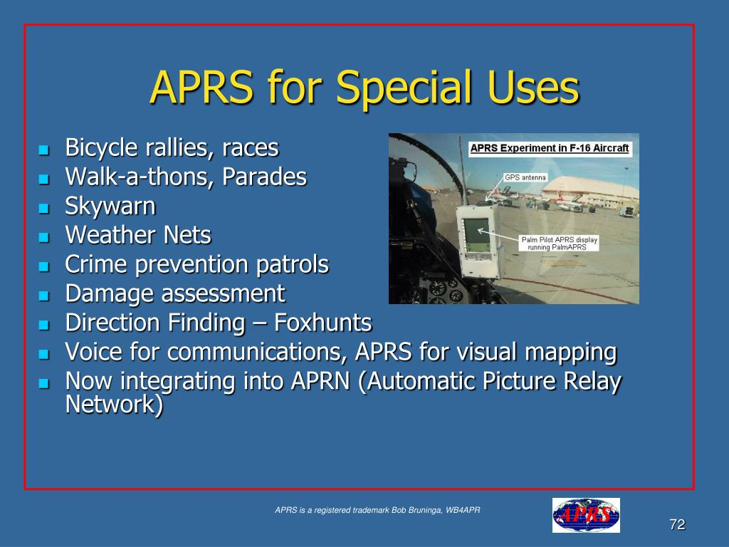 APRS for Special Uses