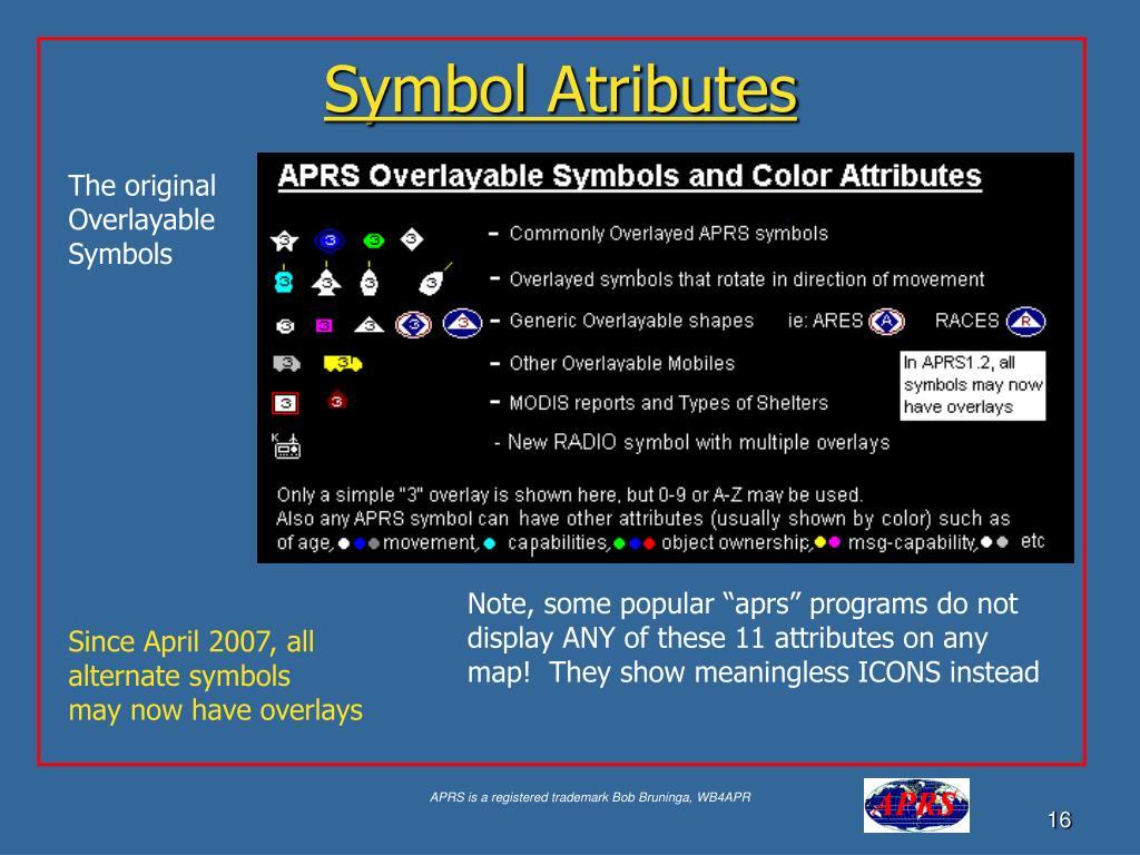 Symbol Atributes