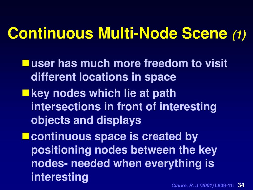 Continuous Multi-Node Scene