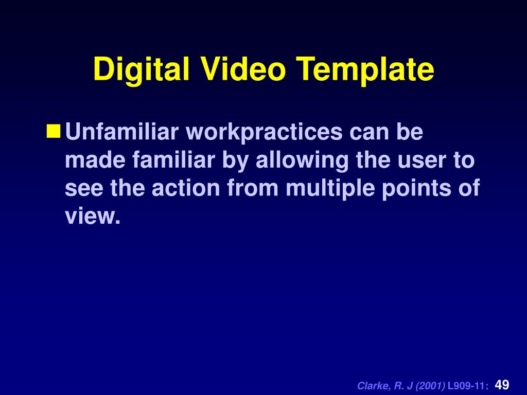 Digital Video Template
