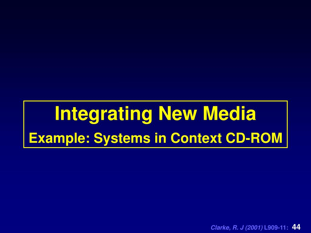 Integrating New Media