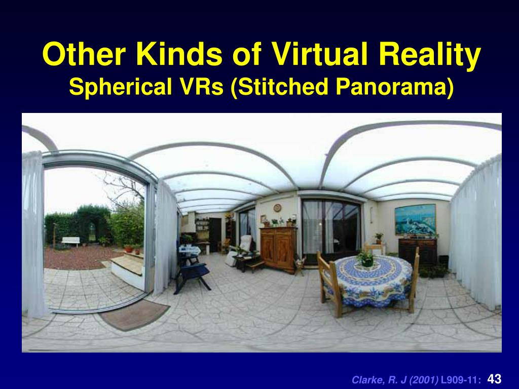 Other Kinds of Virtual Reality