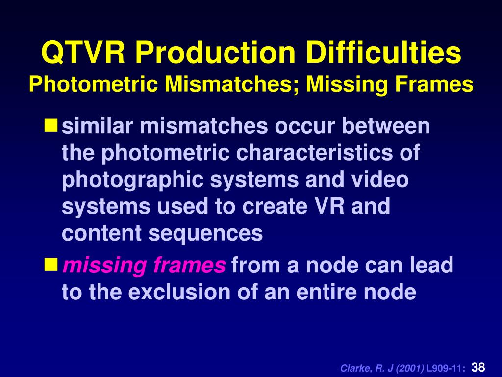 QTVR Production Difficulties