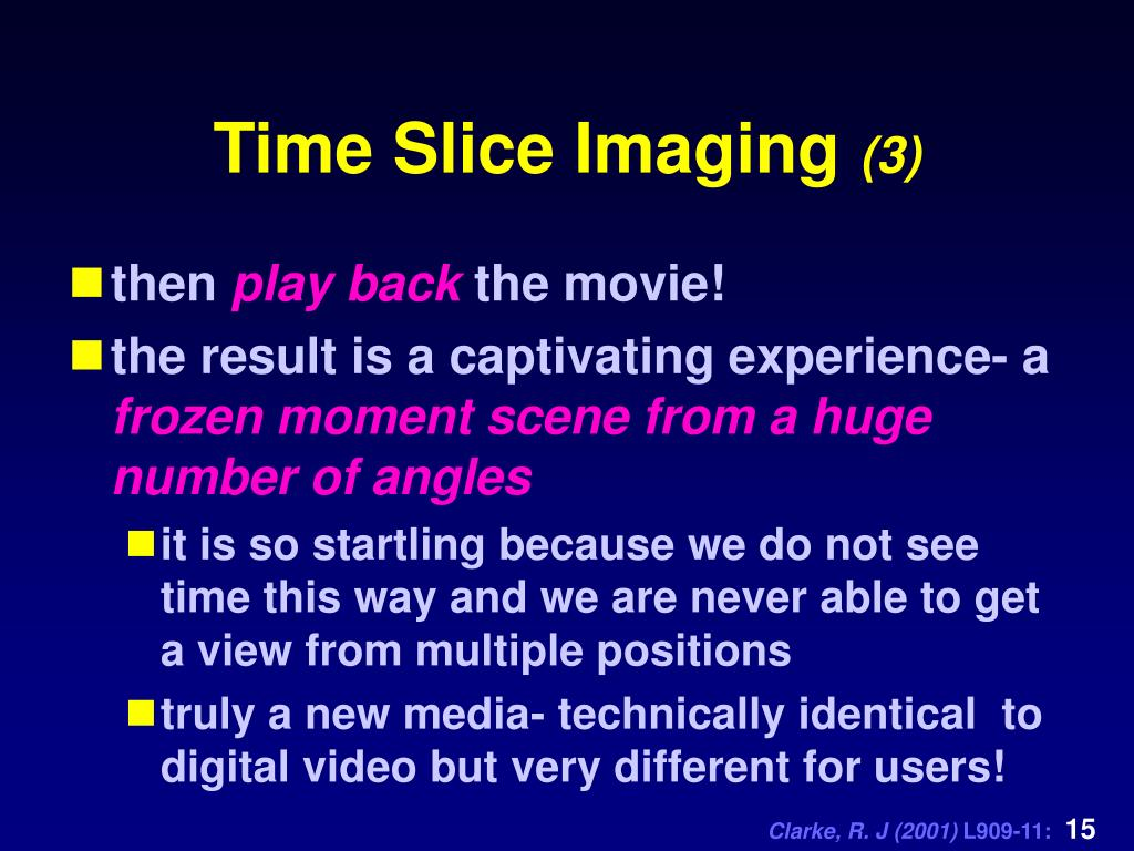 Time Slice Imaging