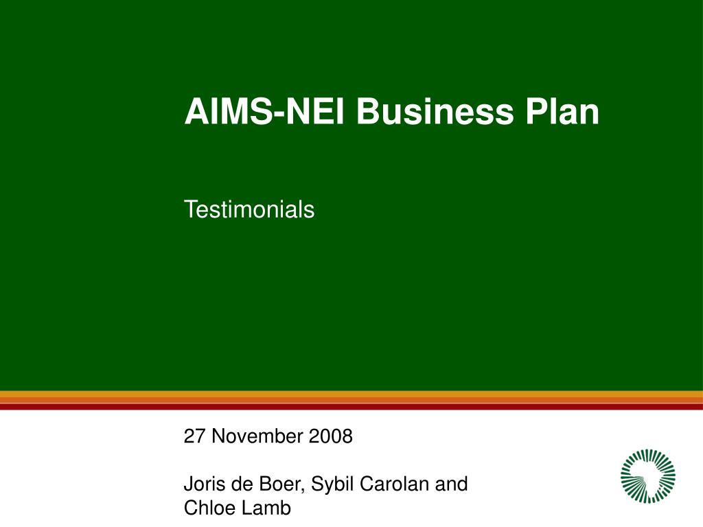 aims nei business plan l.