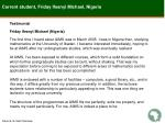 current student friday ifeanyi michael nigeria