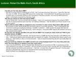 lecturer robert de mello koch south africa