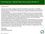 lecturer supervisor ekkehard kopp germany south africa uk 1 3
