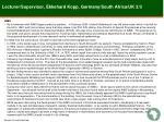 lecturer supervisor ekkehard kopp germany south africa uk 2 3