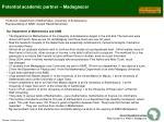 potential academic partner madagascar
