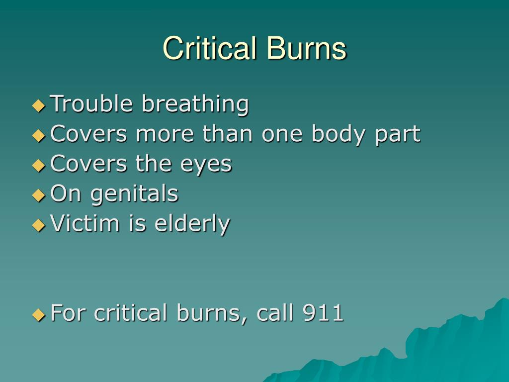 Critical Burns