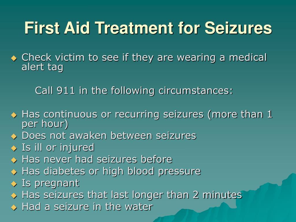 First Aid Treatment for Seizures