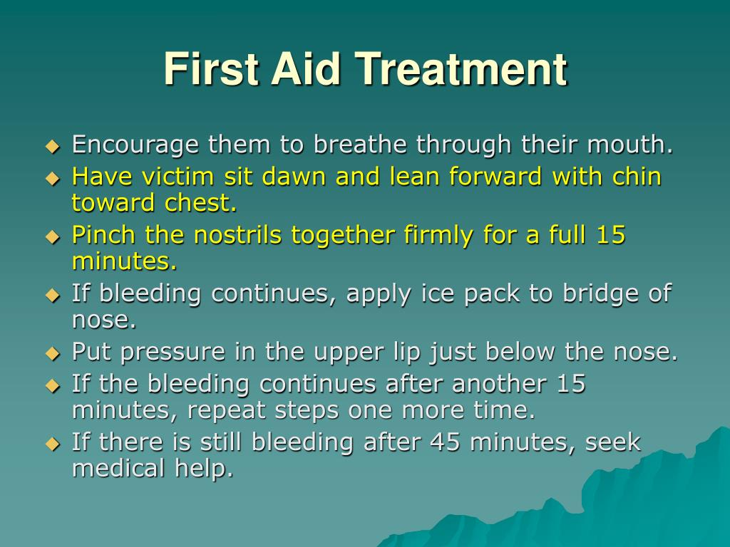 First Aid Treatment