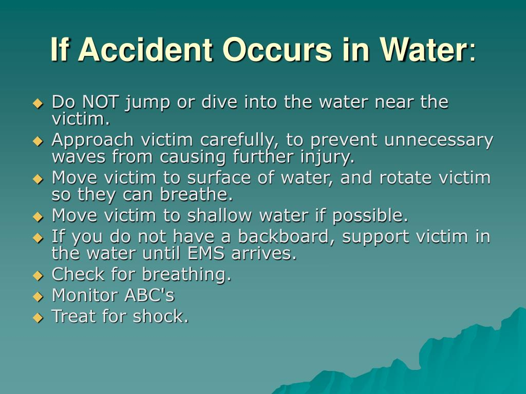 If Accident Occurs in Water